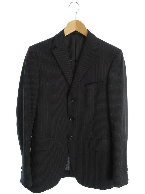 【BUONA GIORNATA】【上下セット】ボナジョルナータ『ストライプ柄セットアップ スーツ sizeS』メンズ 1週間保証【中古】