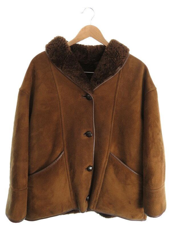【woolea】【アウター】ウーリア『ムートンジャケット size36』レディース コート 1週間保証【中古】