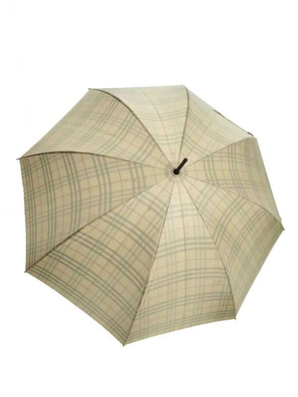 【BURBERRY】【雨傘】バーバリー『チェック柄傘』メンズ アンブレラ 1週間保証【中古】