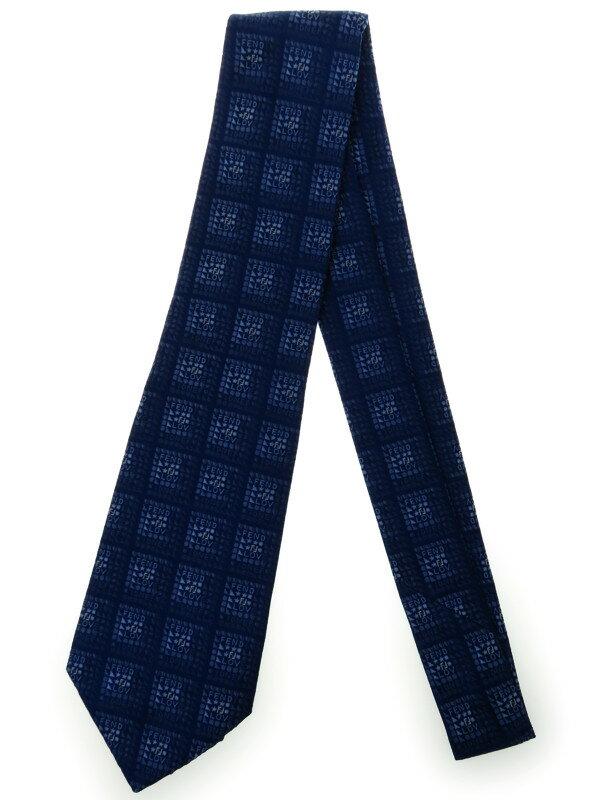 【FENDI】フェンディ『ロゴ柄シルクネクタイ』メンズ 1週間保証【中古】