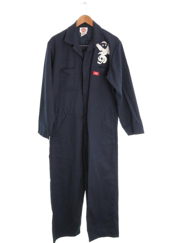 【Dickies】【作業服】ディッキーズ『長袖つなぎ size42/44』メンズ オールインワン 1週間保証【中古】