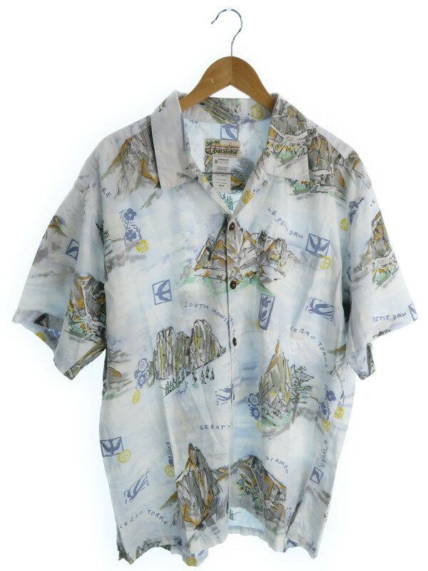 【pataloha】【トップス】パタロハ『半袖アロハシャツ sizeL』メンズ 1週間保証【中古】