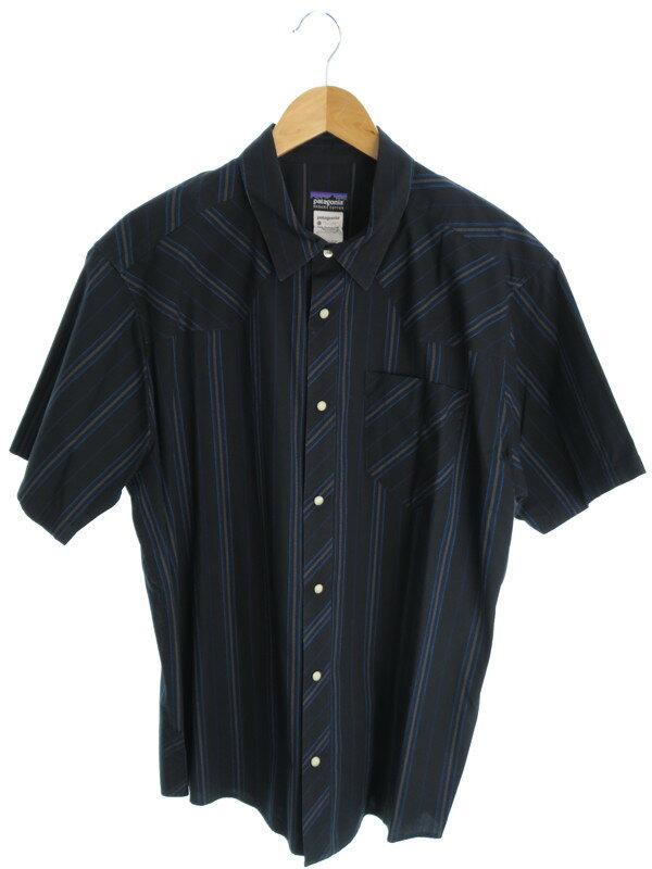 【PATAGONIA】【トップス】パタゴニア『ストライプ柄半袖シャツ sizeL』メンズ 1週間保証【中古】