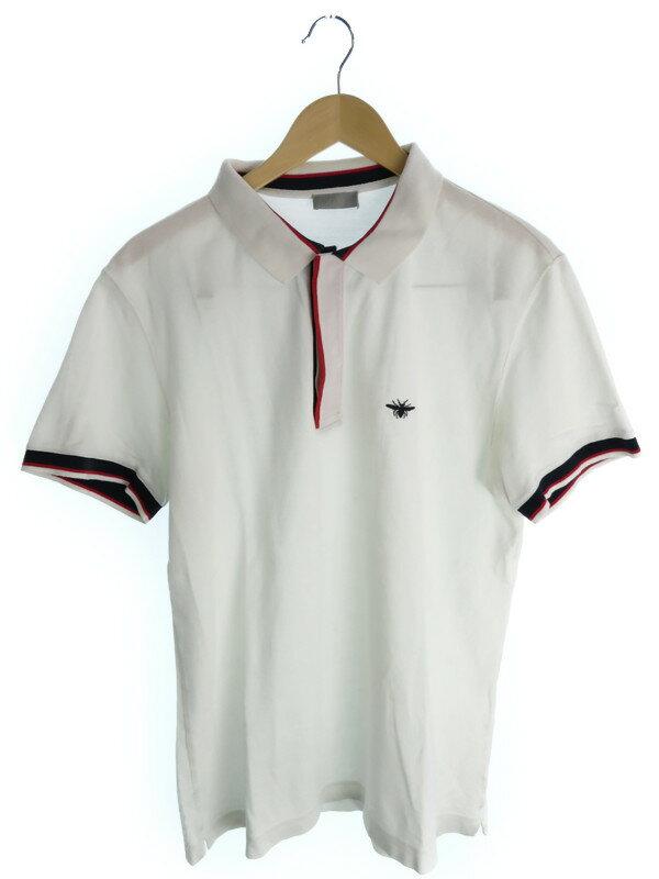 【Dior】【トップス】ディオール『蜂刺繍入り半袖ポロシャツ size54』メンズ 1週間保証【中古】