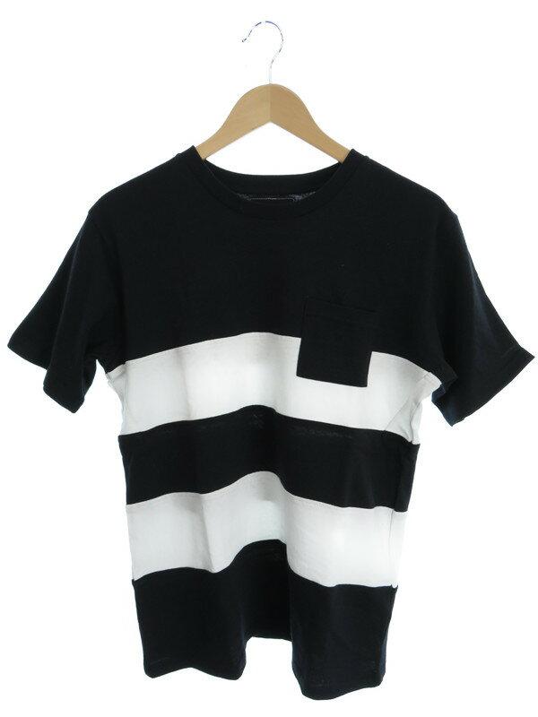 【NUMBER (N)INE】【トップス】ナンバーナイン『ボーダー柄半袖Tシャツ sizeL』メンズ カットソー 1週間保証【中古】