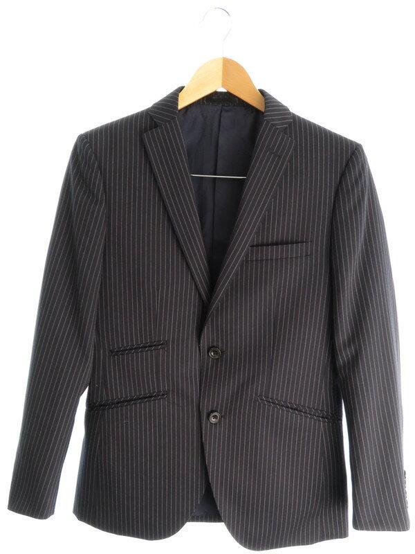 【da giacom】【ツーピース】『ストライプスーツ上下セット size90A4』メンズ セットアップ 1週間保証【中古】