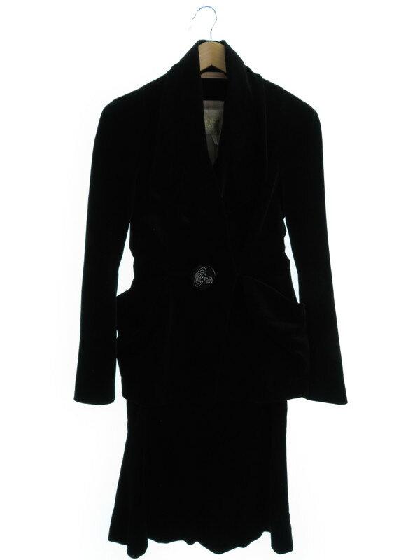 【VIVIENNE WESTWOOD】【上下セット】ヴィヴィアンウエストウッド『ベロアスカートスーツ size10』レディース セットアップ 1週間保証【中古】