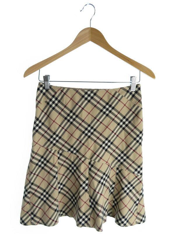 【BURBERRY BLUELABEL】【ボトムス】バーバリーズブルーレーベル『チェック柄ミニスカート size36』レディース 1週間保証【中古】
