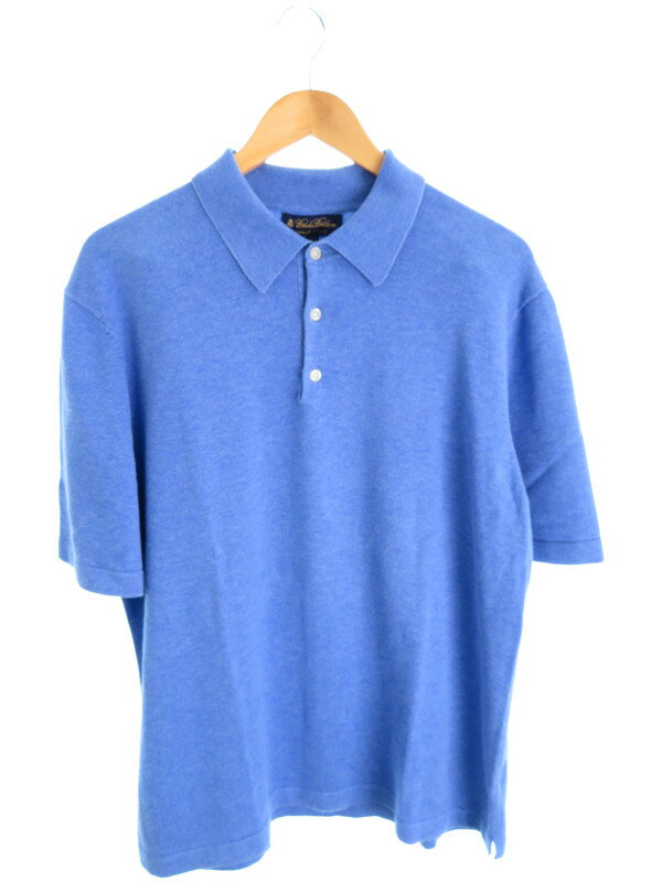 【BROOKS BROTHERS】【トップス】ブルックスブラザーズ『半袖ポロシャツ sizeL』メンズ 1週間保証【中古】