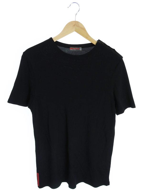 【PRADA】【トップス】プラダ『半袖Tシャツ sizeL』レディース カットソー 1週間保証【中古】