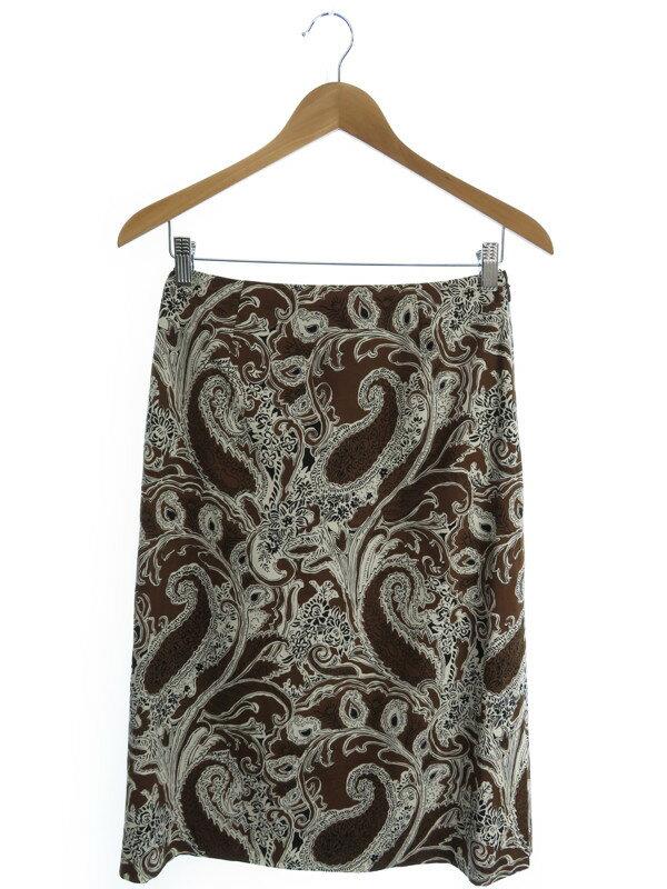 【Scapa】【ボトムス】スキャパ『ペーズリー柄スカート size38』レディース 1週間保証【中古】