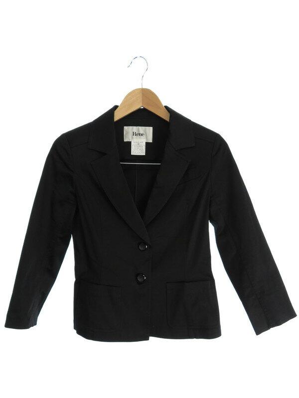 【Rene TISSUE】【アウター】ルネ『七分袖テーラードジャケット size38』レディース 1週間保証【中古】