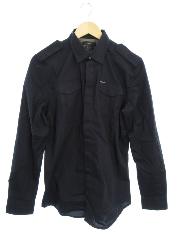 【DIESEL】【トップス】ディーゼル『S-HAUL長袖シャツ sizeM』メンズ 1週間保証【中古】