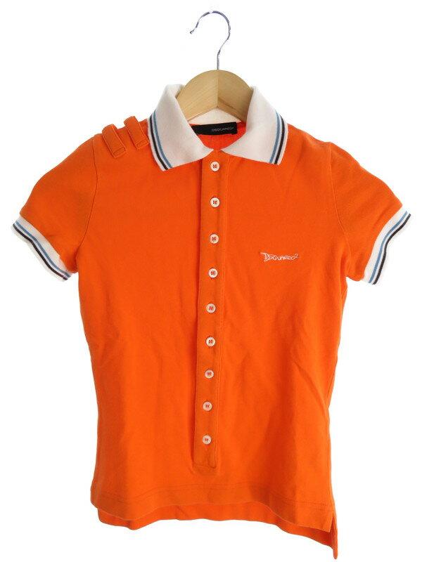 【DSQUARED】【トップス】ディースクエアード『半袖 ポロシャツ sizeS』レディース 1週間保証【中古】