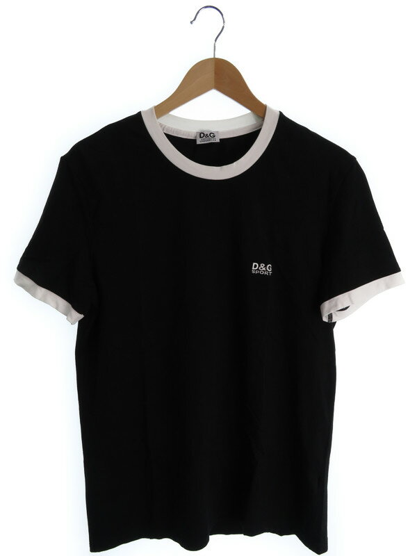 【D&G】【トップス】ディーアンドジー『半袖 UネックTシャツ sizeL』メンズ 1週間保証【中古】