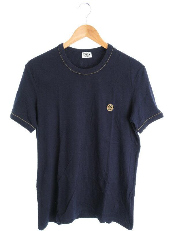 【D&G】【トップス】ディーアンドジー『半袖 UネックTシャツ sizeM』メンズ 1週間保証【中古】