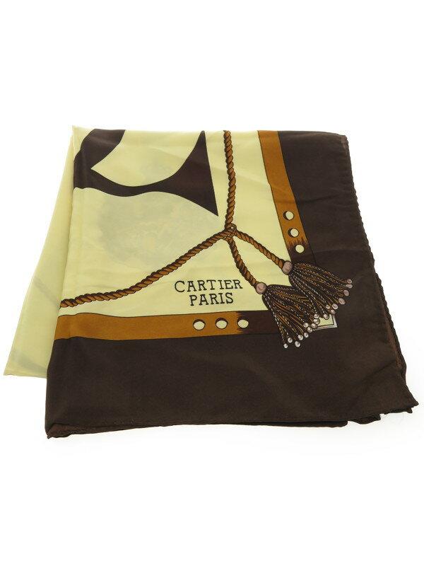 【Cartier】カルティエ『正方形シルクスカーフ』レディース 1週間保証【中古】