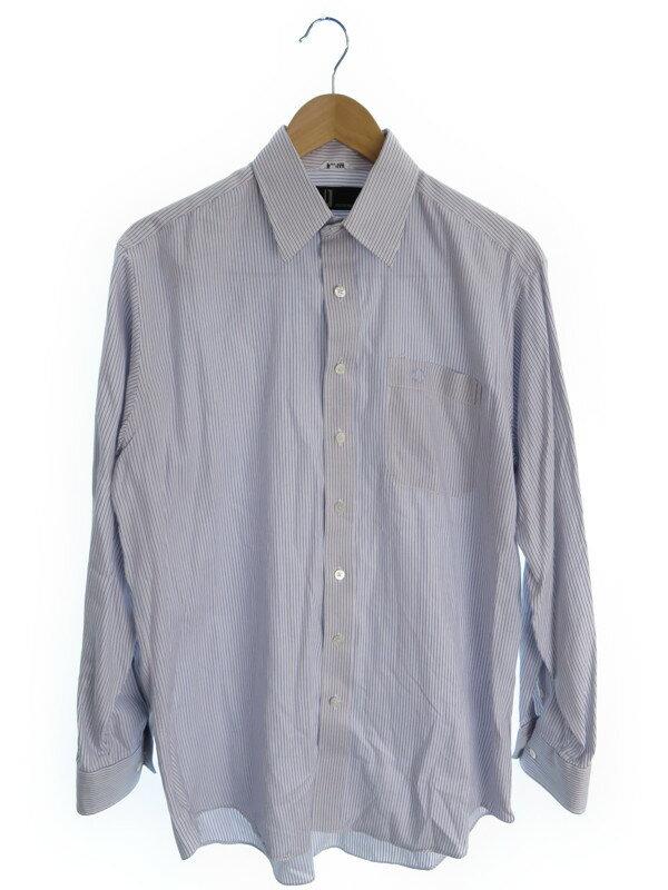 【dunhill】【トップス】【ワイシャツ】ダンヒル『ストライプ柄長袖シャツ 』メンズ 1週間保証【中古】