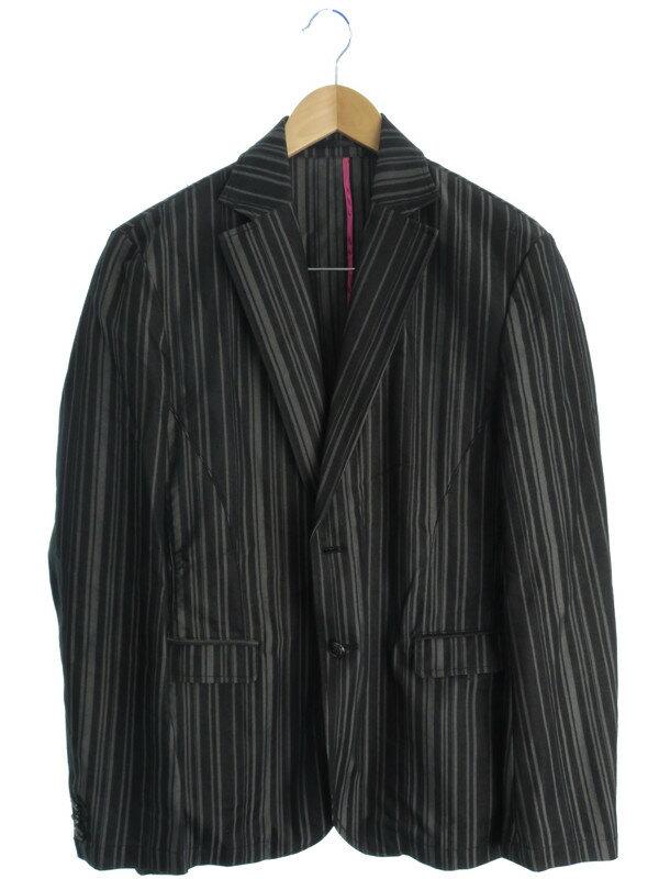 【HIDEAWAYS】【アウター】ハイダウェイ『ストライプ柄テーラードジャケット size50』メンズ 1週間保証【中古】