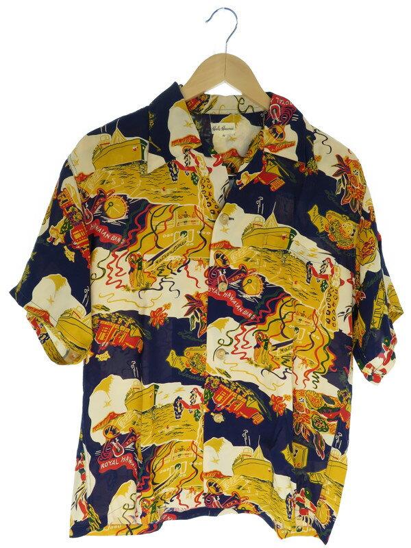 【SUN SURF】【トップス】サンサーフ『Hale Hawaii 半袖アロハシャツ sizeS』メンズ 1週間保証【中古】