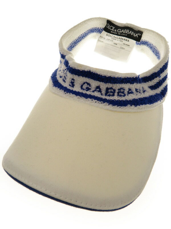 【Dolce&Gabbana】ドルチェアンドガッバーナ『サンバイザー』メンズ 帽子 1週間保証【中古】