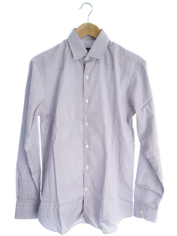 【Salvatore Ferragamo】【トップス】フェラガモ『ストライプ柄長袖シャツ sizeS』メンズ 1週間保証【中古】