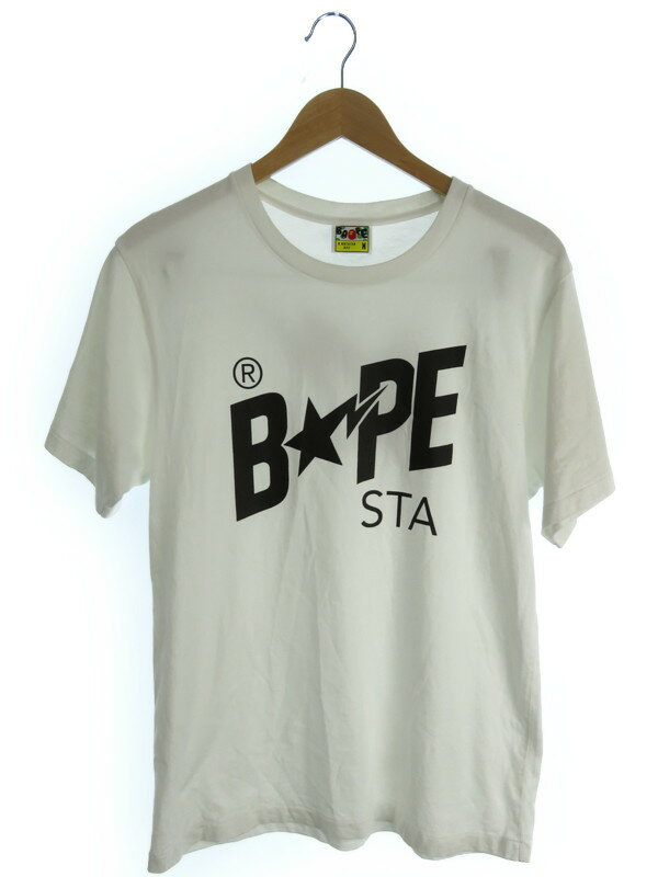 【A BATHING APE】【BAPE】【トップス】アベイシングエイプ『半袖Tシャツ sizeM』メンズ 1週間保証【中古】