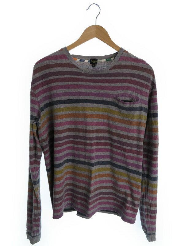 【Paul Smith JEANS】【トップス】ポールスミスジーンズ『長袖ボーダー柄カットソー sizeL』メンズ Tシャツ 1週間保証【中古】