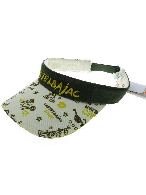 【CASTELBAJAC SPORT】カステルバジャックスポーツ『イラスト入りサンバイザー size42』レディース 帽子 1週間保証【中古】