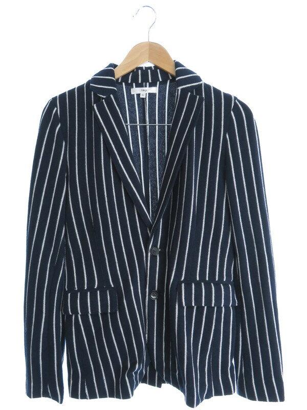 【imp】【アウター】インプ『パイル地 ストライプ柄ジャケット sizeS』メンズ ジャケット 1週間保証【中古】