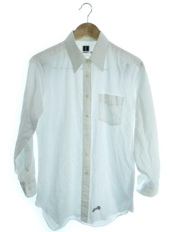 【YVES SAINT LAURENT】【IWATAYA】【トップス】サンローラン『長袖シャツ size S』メンズ 1週間保証【中古】