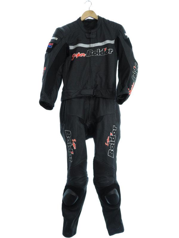 【Honda】【レーシング】【super Bold'or】ホンダ『スーパーボルドープロテクター付 バイクウェア 上下セット sizeL』メンズ バイクスーツ 1週間保証【中古】