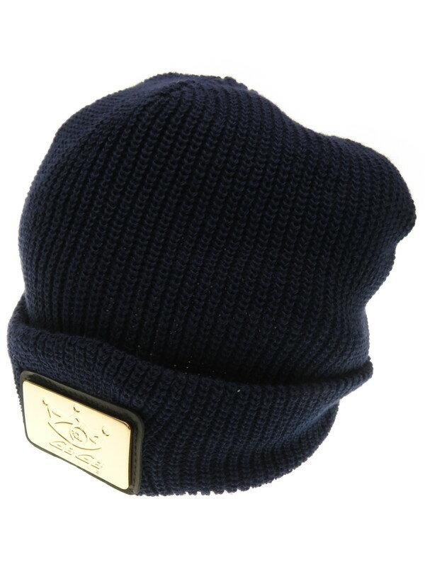 【GaGa MILANO】ガガミラノ『メタルワッペン付 ニット帽』ユニセックス 帽子 1週間保証【中古】