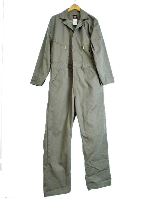 【Dickies】【作業服】ディッキーズ『長袖つなぎ sizeL RG』メンズ オールインワン 1週間保証【中古】