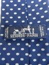 【HERMES】エルメス『ドット柄シルクネクタイ』メンズ 1週間保証【中古】b01f/h08AB