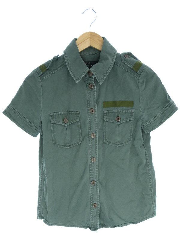 【MARC JACOBS】【トップス】マークジェイコブス『ミニタリー風 半袖シャツ size4』レディース 1週間保証【中古】