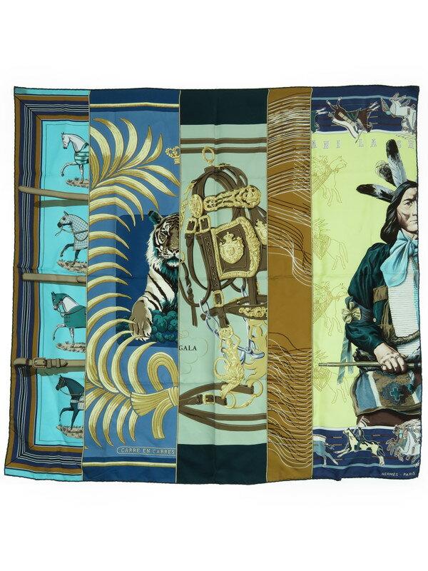 【HERMES】【CARRE EN CARRES】エルメス『カレ90』レディース スカーフ 1週間保証【中古】