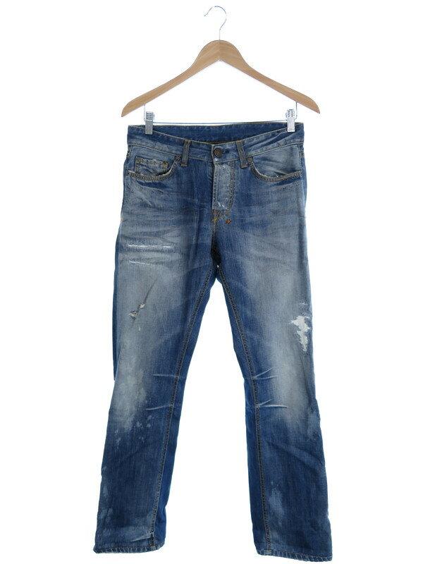 【REIGN】【ボトムス】【ジーパン】レイン『ダメージ加工ジーンズ size29』メンズ デニムパンツ 1週間保証【中古】