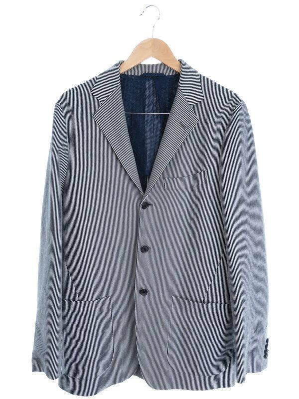 【Sartorio】【アウター】サルトリオ『ストライプ柄テーラードジャケット size50』メンズ 1週間保証【中古】