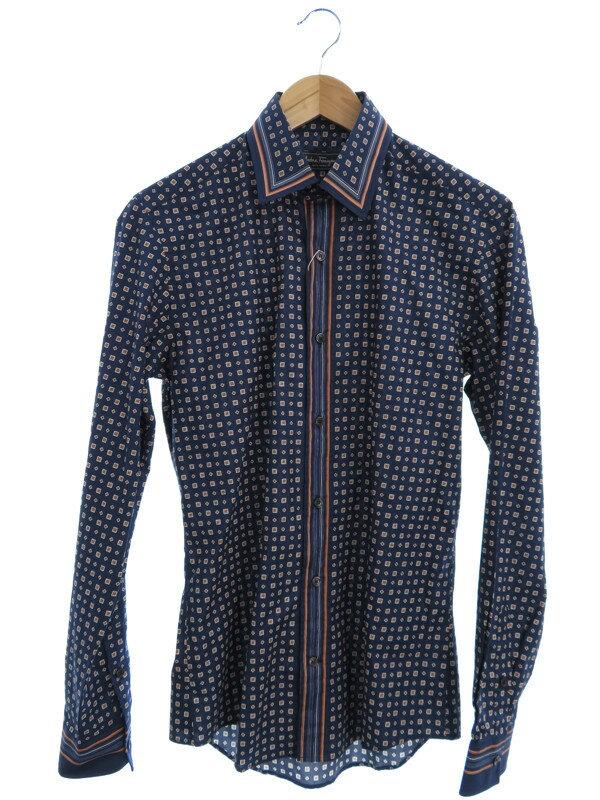 【Salvatore Ferragamo】【トップス】フェラガモ『長袖シャツ sizeS』メンズ 1週間保証【中古】