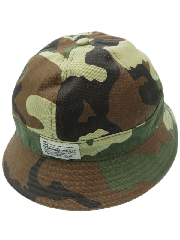 【7UNION】セブンユニオン『カモフラ柄ハット sizeML』ユニセックス 帽子 1週間保証【中古】
