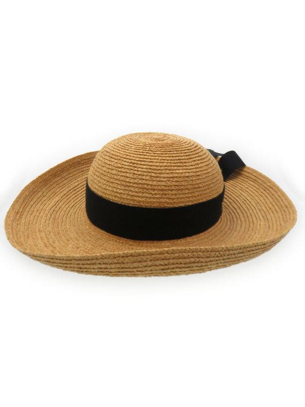 【HELEN KAMINSKI】【麦わら帽子】ヘレンカミンスキー『リボン付ラフィア ハット』レディース 帽子 1週間保証【中古】