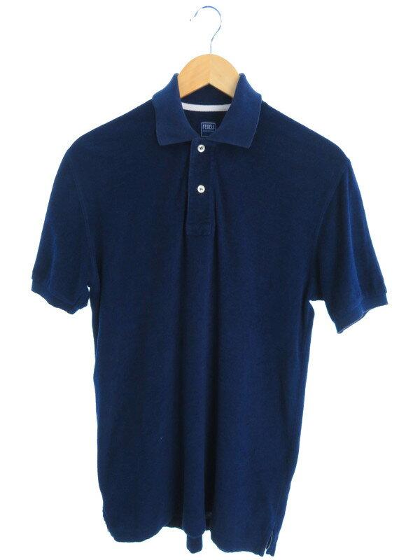 【fedeli】【トップス】フェデリ『パイル地半袖ポロシャツ size48』メンズ 1週間保証【中古】