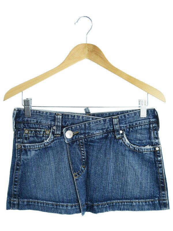 【DSQUARED2】【ボトムス】ディースクエアード『デニム巻きスカート size38』レディース 1週間保証【中古】