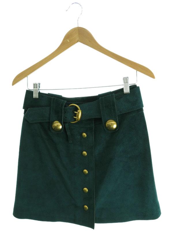 【GUCCI】【ボトムス】グッチ『スエード巻きスカート size36』レディース 1週間保証【中古】