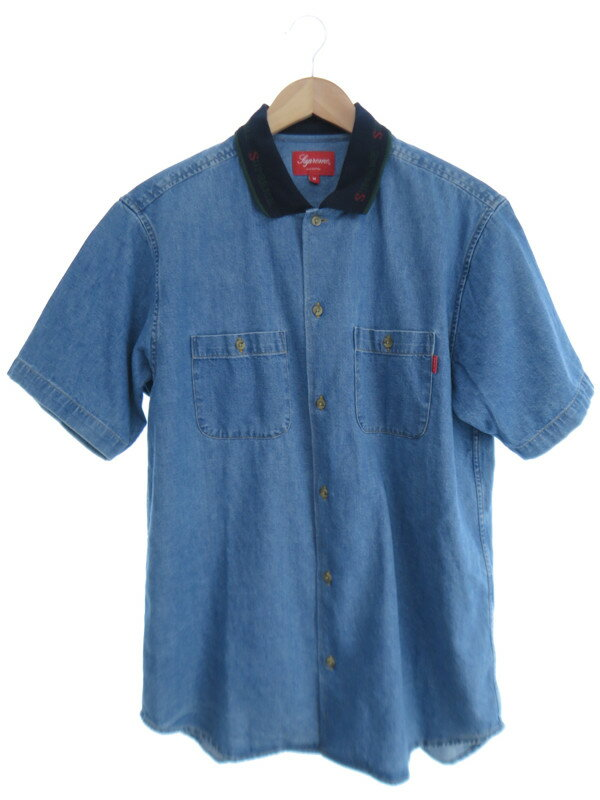 【Supreme】【トップス】シュプリーム『デニム半袖シャツ sizeM』メンズ 1週間保証【中古】