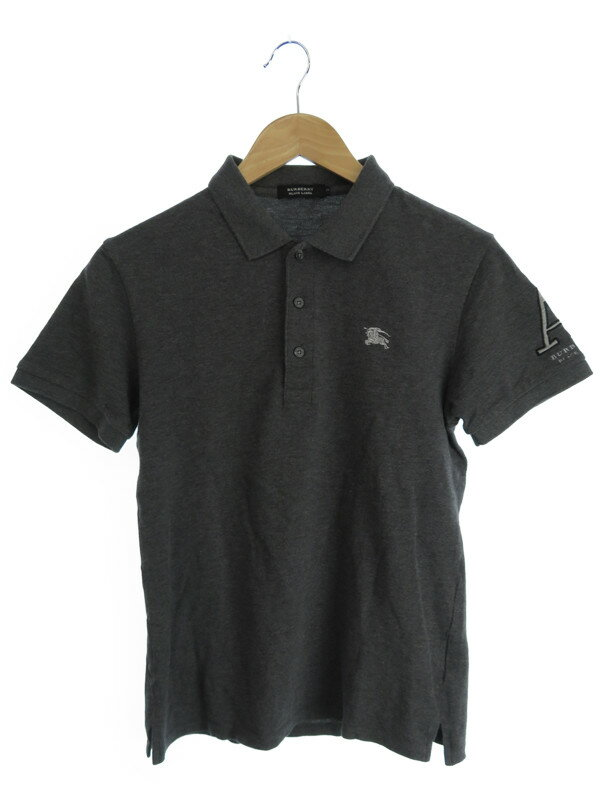 【BURBERRY BLACK LABEL】【トップス】バーバリーブラックレーベル『半袖ポロシャツ size2』メンズ 1週間保証【中古】