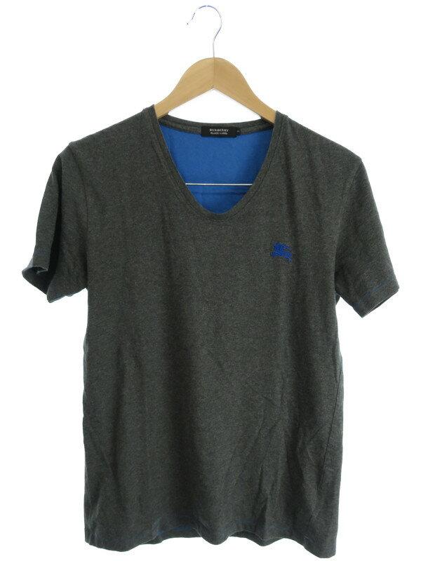 【BURBERRY BLACK LABEL】【トップス】バーバリーブラックレーベル『半袖Tシャツ size2』メンズ 1週間保証【中古】