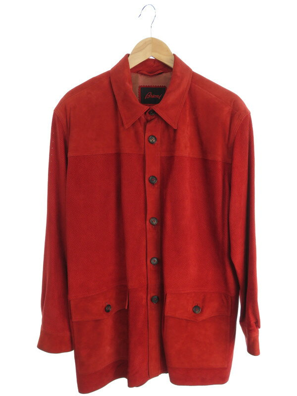 【Brioni】【アウター】ブリオーニ『パンチングスエードジャケット sizeS』メンズ 1週間保証【中古】
