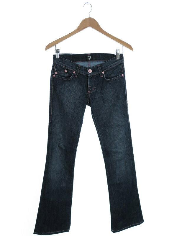 【ROCK&REPUBLIC】【ジーパン】【ボトムス】ロックアンドリパブリック『ラインストーン付きジーンズ size24』レディース デニムパンツ 1週間保証【中古】